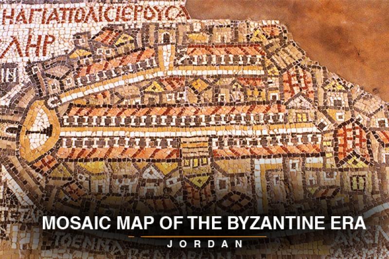 mosaic map of the byzantine era