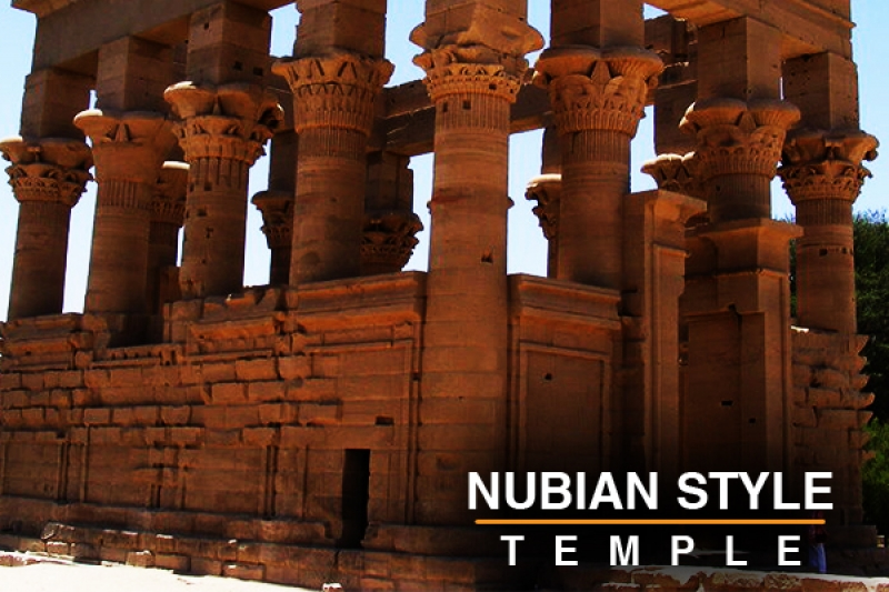 Nudian style temple