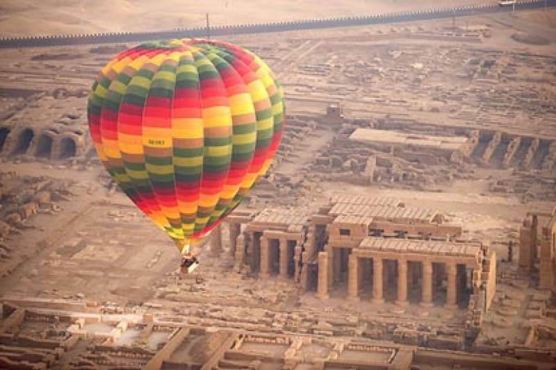 Hot Air Balloon Flight over Luxor West bank and Nile River