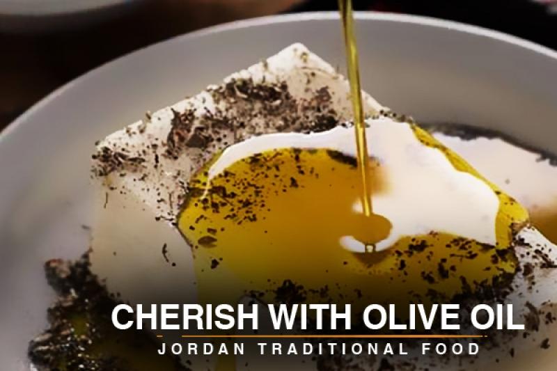 Cherish with olive oil